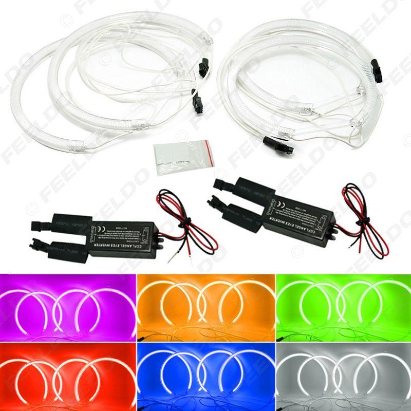 4pcs Car Headlight CCFL Angel Eyes Light Halo Rings Kits Light For BMW X5(E53) DRL 6-Color Optional #3899