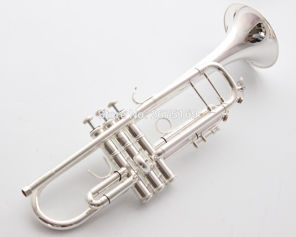 Argento Bach Stradivarius professionale Bb Tromba LT180S-37GS placcato Trompete Instrumentos Musicales Profesionales Bocchino
