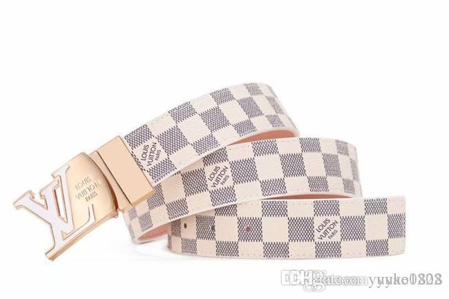 Brand new top quality leather belt big gold buckle leather belt designer men and women high quality new men's leather belt