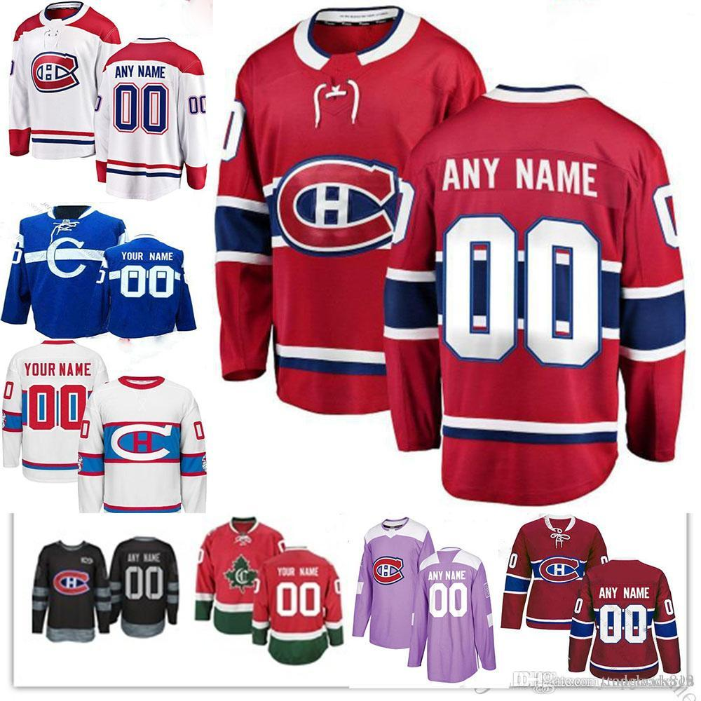 Custom Montreal Canadiens hombres mujeres jóvenes Carey Price Jesperi Kotkaniemi Max Domi Brendan Gallagher Shea Weber Tomas Tatar Hockey Jersey