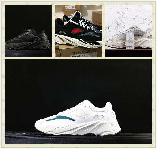 Großhandel KAWS X Kanye West X Adidas Yeezy Runner Boost 700 Neue INERTIA 700 Kanye West Wave Runner Static 3M Reflektierende Fuchsia Einfarbig Sport