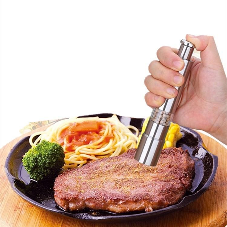 الفولاذ المقاوم للصدأ مطحنة الفلفل المحمولة دليل مطاحن الفلفل مولر التوابل الفلفل آلة صغيرة الطبخ T2I5484 المطبخ