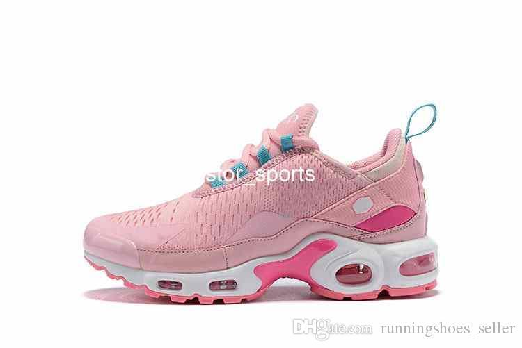 Großhandel 2019 Nike Air Max 270 TN Herrenmode Laufschuhe Schwarz Pink Tns Sportschuhe Damen Mesh Weiß Chaussures Trainer Air Designer Turnschuhe 36