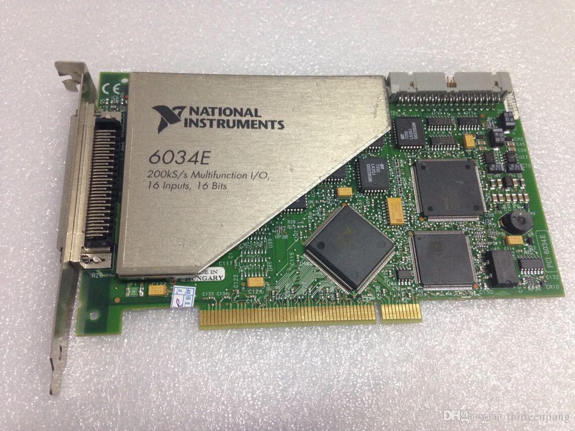 1 PC NI PCI-6034E Cartão de Aquisição de Dados Multifunções 16 Entradas Analógicas 778075-01 Novo / Usado Teste Em Bom Estado