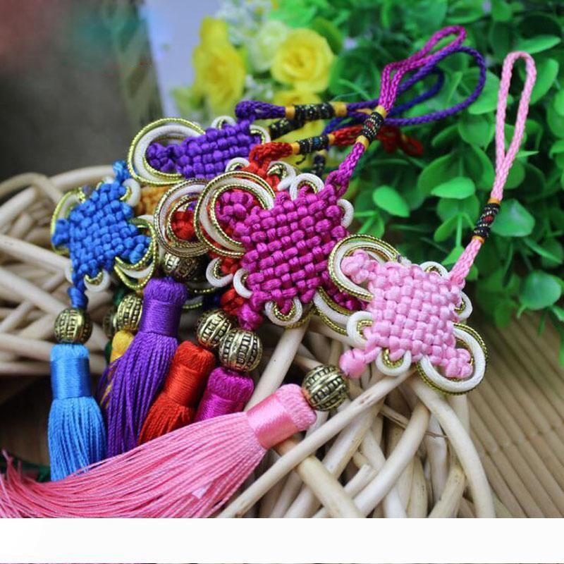 Un noeud chinois traditionnel Pendentif chanceux Kont Oraison caractères chinois Fu Parole printemps Pendentif cadeau Hanging voiture Accessoires souveni