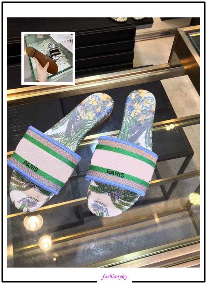 Ultimo NUOVO Dazzle Fiori Trendy Boemia Pantofole donna Ultime formato Letter ricamo della signora Sandal 35