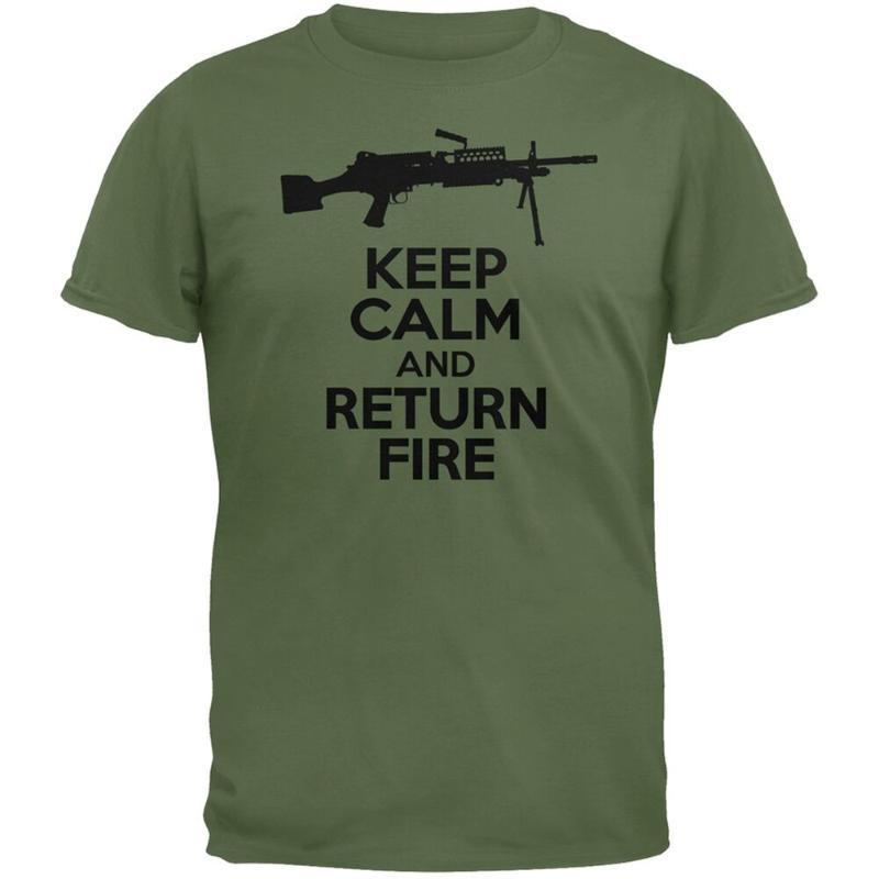 Mantener la calma y vi De retorno del fuego verde para hombre adulto Camiseta unisex Tops Nueva camiseta divertida