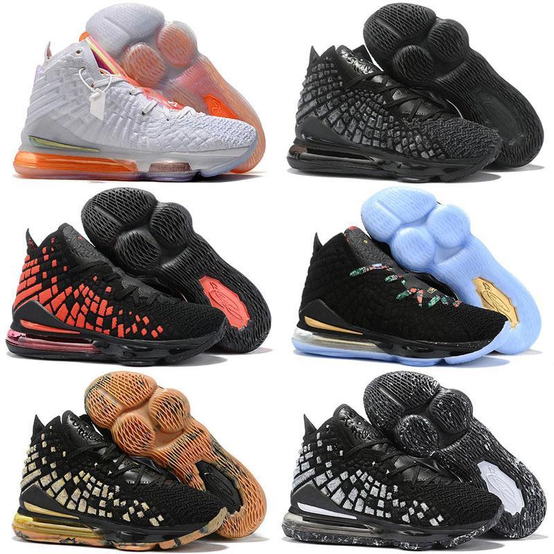 2020 New Lebron 17 XVII Future Femmes Hommes Chaussures de basket-ball extérieur égalité Noir Blanc Oreo Bred 17s Zoom Aubergine Hommes Chaussures