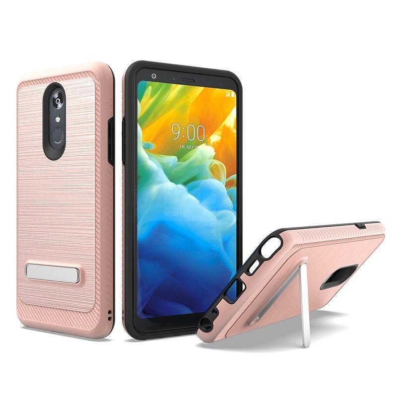 ТПУ + ПК Гибридный телефон Защитный чехол для Samsung Galaxy J3 2019 Achieve 2018 J7 Star Emerge J2 Core A10e Противоударная крышка с металлической подставкой