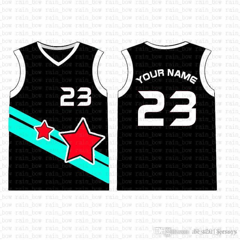 2019 Новый пользовательский баскетбол Джерси Высокое качество Mens свободная перевозка груза вышивки Logos 100% нашит верхней продажи A17457