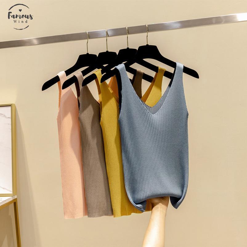 Tops Chemises Chemises Sexy Femmes T Knitwear Blouse douce Ruchée Casual Crop Crop Débardeurs Débardeurs Multicolors Hauts Hauts Hrkbt