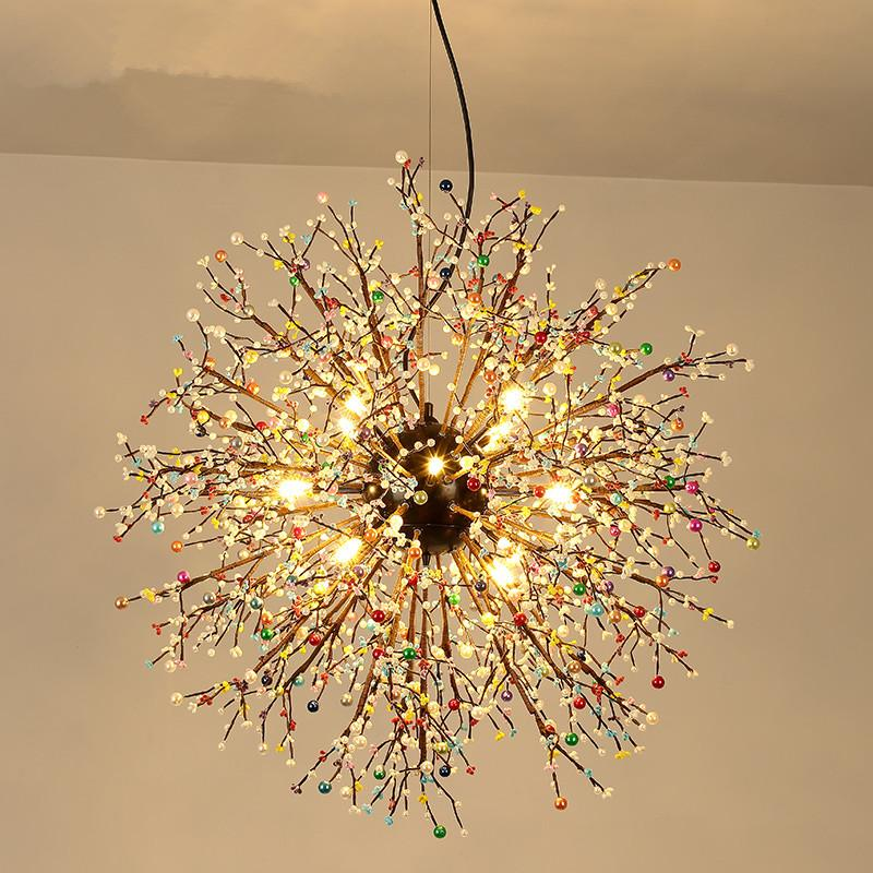 Firework Dandelion Pendant Lights, Decorative Lamps For Living Room