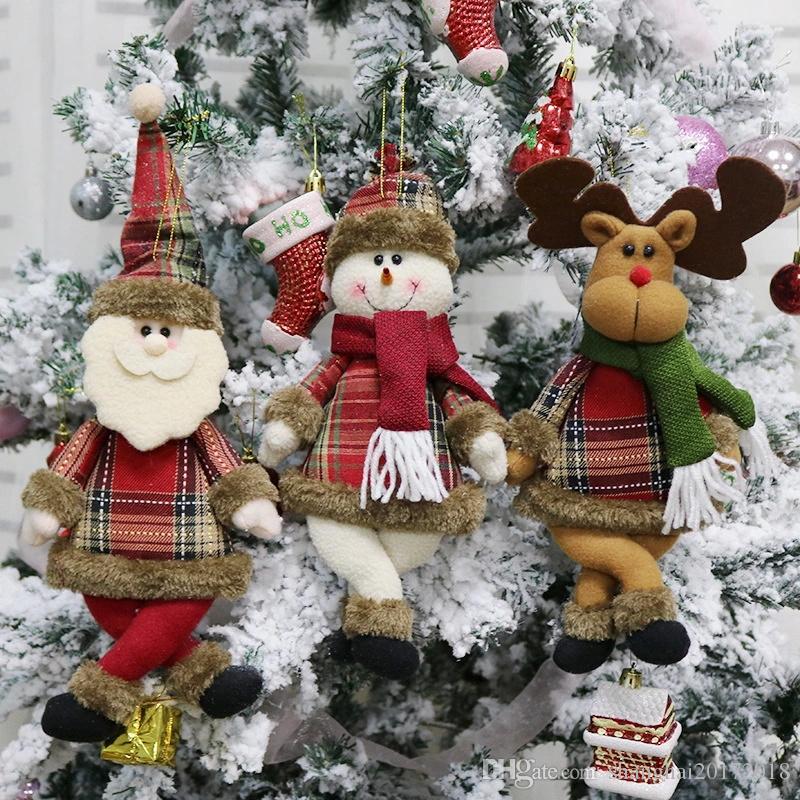 2019 Nouvel An Décorations De Noël pour La Maison Pendentif Ornements De Noël Joyeux Noël Décorations D'arbres De Noël Jouets
