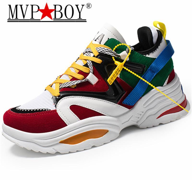 MVP BOY Hombres Zapatos Casuales Marca de Primavera Mn Zapatos Al Aire Libre de Moda Transpirable antideslizante Zapatillas de deporte de Los Hombres Caminar Zapatillas Hombre 35-44