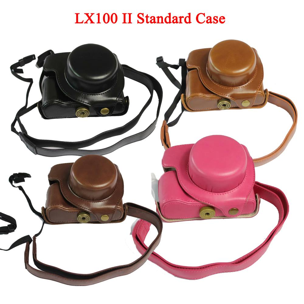 Luxury PU Leather Camera Case Bag Cover for Panasonic DMC-LX100 LX100 LX100 II DC-LX100 II Camera Bag with Strap Color : Luxury Brown case