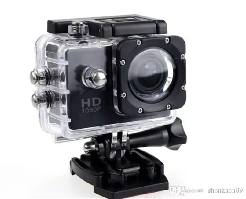 Su geçirmez 30M DV Kayıt Mini Sking Bisiklet Fotoğraf Video altında SJ4000 1080P Full HD Eylem Dijital Spor Kamera 2 inç ekran Came