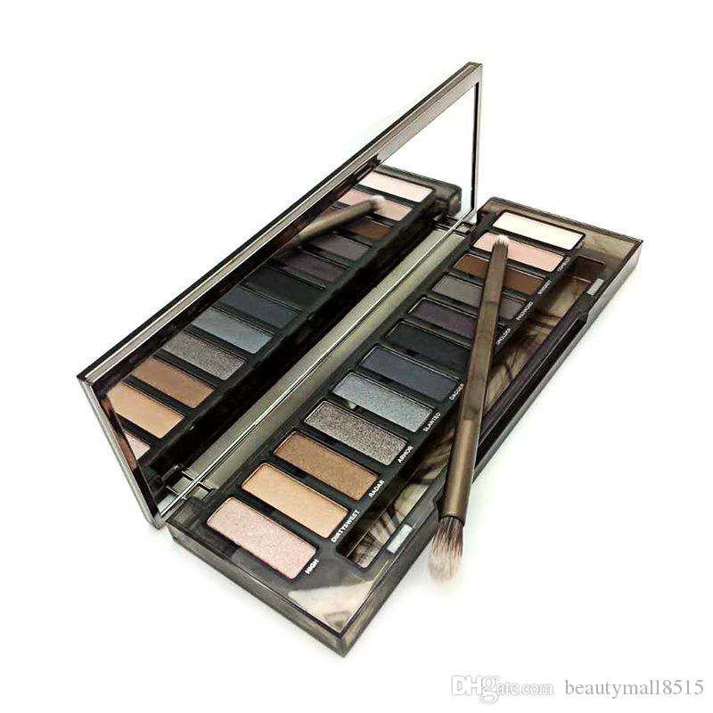 Hot New Smoky Eyeshadow Palette 12 Оттенок Водонепроницаемого Nude Eye Shadow прессованного пигментированный макияж Long Ношение Eye Beauty Kit Free Ship