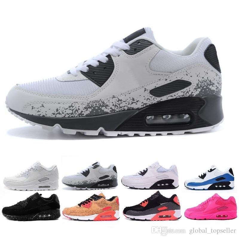 Acheter Nike Air Max 90 2019 Vente En Gros 90 Chaussures Pour Hommes Femmes  Blanc Noir Rouge Running Concepteurs De Lair Homme Chaussures De Course ...