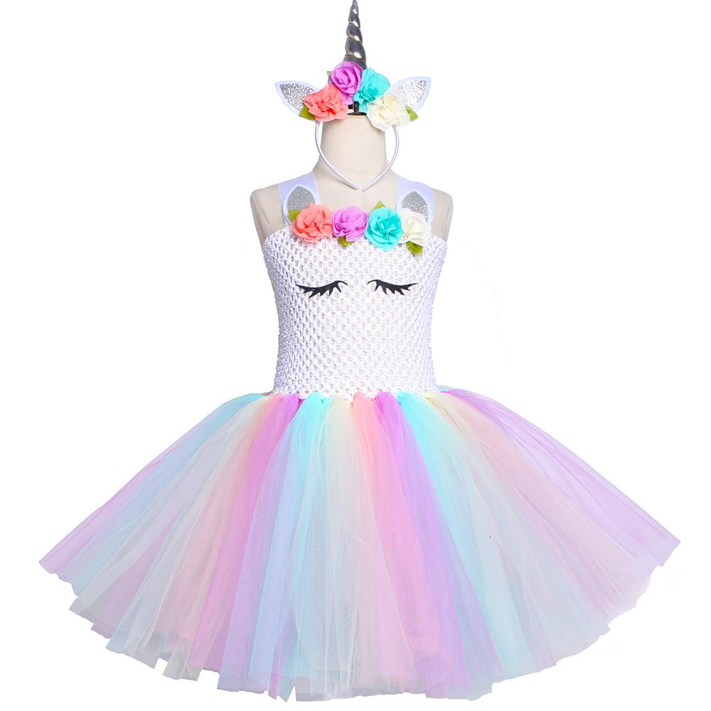 Xng Christmas Party 2020 2020 Pastel Unicorn Tutu Dress Girl Kids Flower Birthday Party