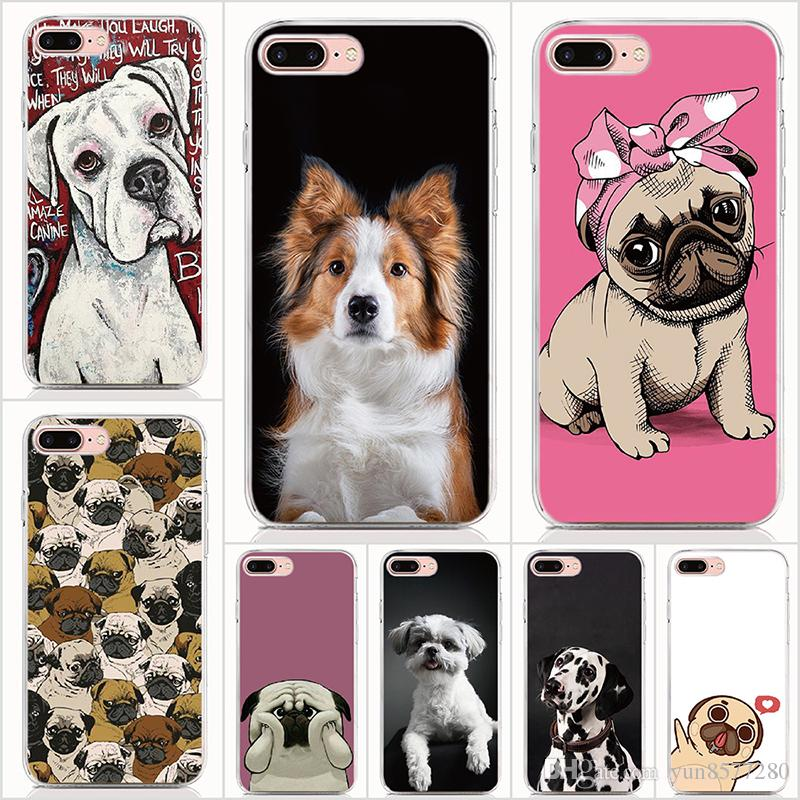 For iPhone XS Max XR X 7 8 Plus 6 6S Plus 5 5S SE case Soft TPU Print pattern Cute dog High quality phone cases 10pcs Lot