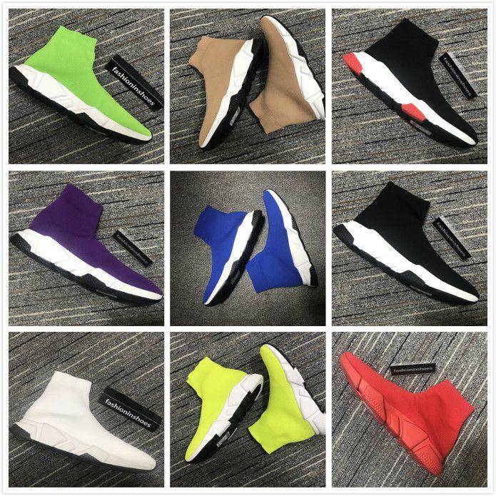 mulheres fashioninshoes Speed Trainer Sock Sneakers Botas fundos velocidade vermelho corredor ao ar livre Casual sapatos de grife Flats kanye luxo cc do vintage