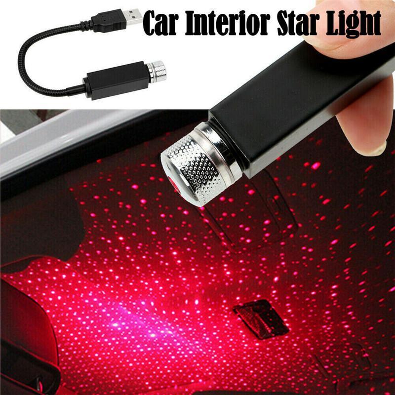 플러그 앤 플레이 - 자동차 및 홈 천장 로맨틱 USB 나이트 라이트 파티 크리스마스 USB 미니 LED 자동차 지붕 조명 프로젝터 램프