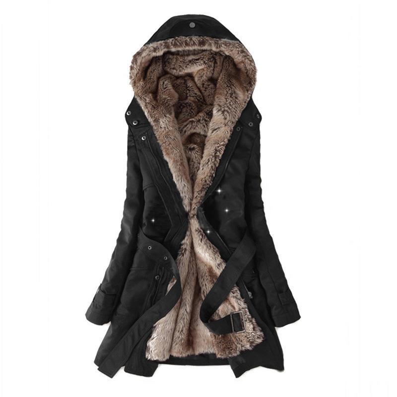 Mulheres Winter destacável Jacket 2018 Casual casaca Modelo básico Jaqueta Feminina jaquetas Tops longo Parkas Thicken Casacos