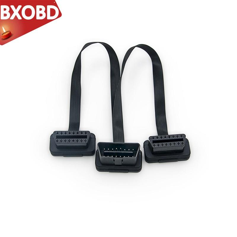 Obdii Extension 30CM Dual Connector Y Splitter OBD2 16PIN Male to Female Connection Flat+Thin as Ndle ELM327