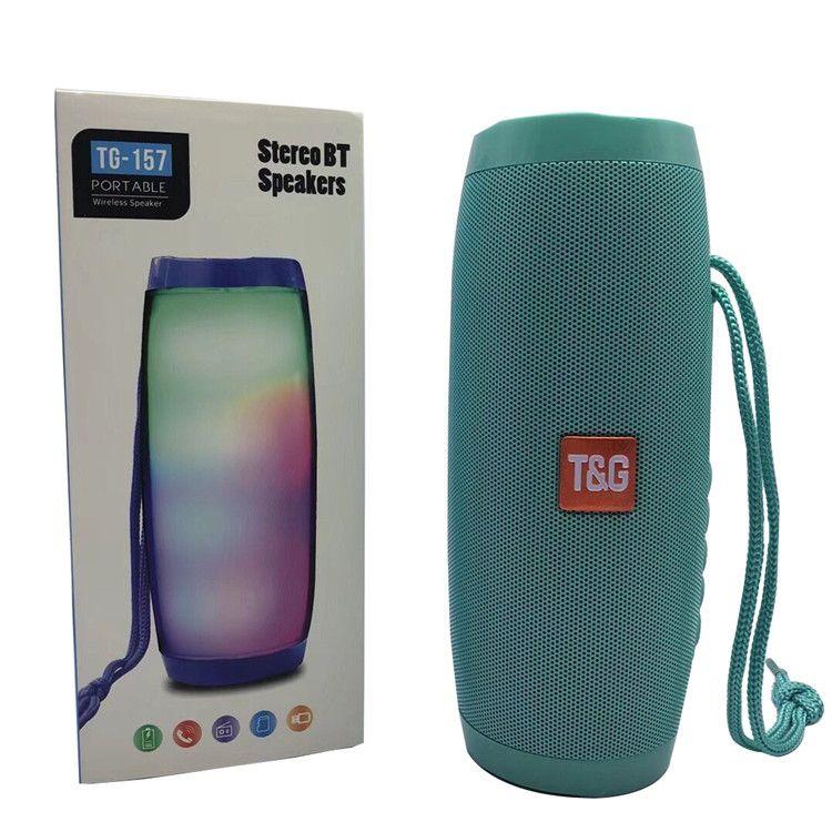 TG157 LED Universel Extérieur Sans Fil Mini Bluetooth Haut-Parleur Portable Surpoids Subwoofer De Voiture Multifonction Stéréo Soutien TF Carte