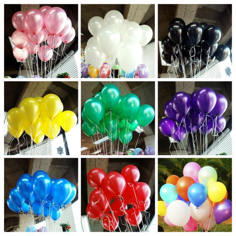 100pcs Lot 1,5 g Aufblasbare Perle Latex-Ballon für Hochzeit Dekorationen Air-Ball-Party Supplies Alles Gute zum Geburtstag