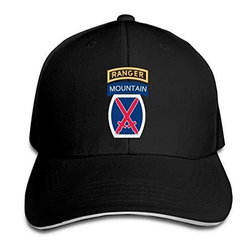 Ranger Beyzbol Şapkası Ayarlanabilir Çatılı Sandviç Şapka Unisexe Erkekler Beyzbol Spor Dış Mekan Hip-hop Strapbacks şapka ile 10 Dağ Bölümü