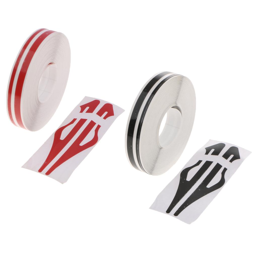2PCS 자동차 스타일링 후드 커버 비닐 랩 테이프 스티커 롤 유선형 칼 트림 - 블랙 + 레드