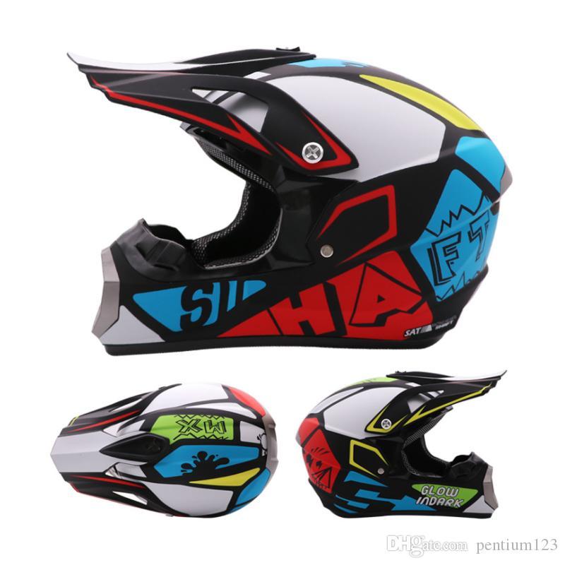 Yarış Yarış Kask Modüler Çift Lens Motosiklet Kask Tam Yüz Güvenli Kasklar Casco Capacete Casque Moto Maskesi Gözlük Eldivenli Maske