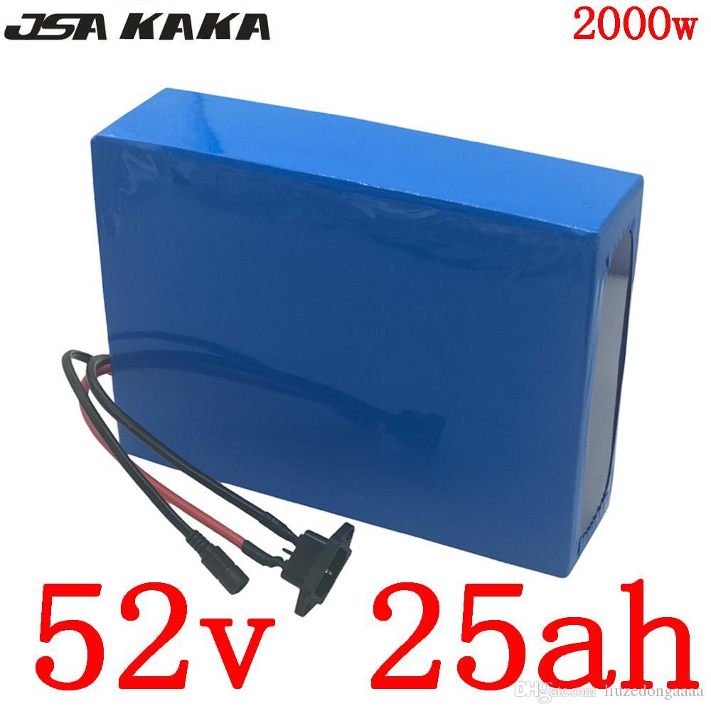 52В 1000Вт 1500Вт 2000Вт электрический самокат батареи 52В 25AH литиевая батарея 52В 25AH электрический велосипед аккумулятор+5А зарядное устройство бесплатная налог