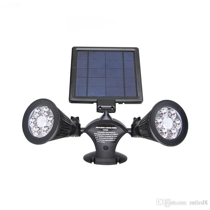 الأمن تدوير ماء LED الخفيفة للطاقة الشمسية في الهواء الطلق 12 LED الطاقة الشمسية المزدوجة رئيس شرطة التدخل السريع الحركة الاستشعار ساحة حديقة جدار الضوء