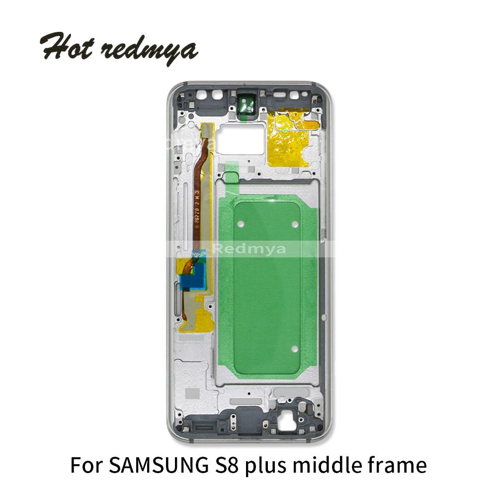 Mittlerer Rahmen für Samsung Galaxy S8 Plus S8 + G955 Mittlere Blende Metallrahmen Gehäuse Chassis Mit Ersatzteil Mit Seitentaste