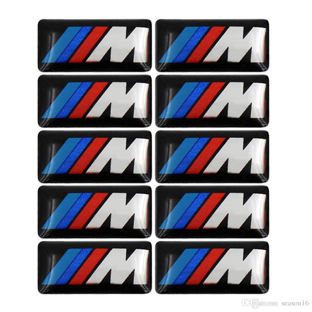 BMW M 시리즈 M1 M3 M5 M6 X1 X3 X5 X6 E34 E36 E6 자동차 스타일링 스티커 100PCS 절반 스포츠 휠 배지 3D 엠블렘 스티커 데칼 로고