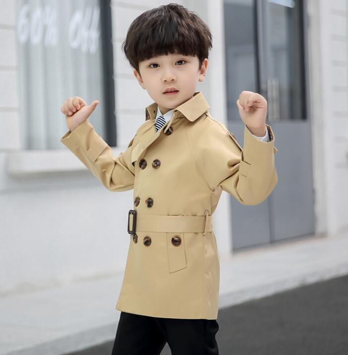 2020 spring children's clothing boy windbreaker casual children's mid-length coat WY408