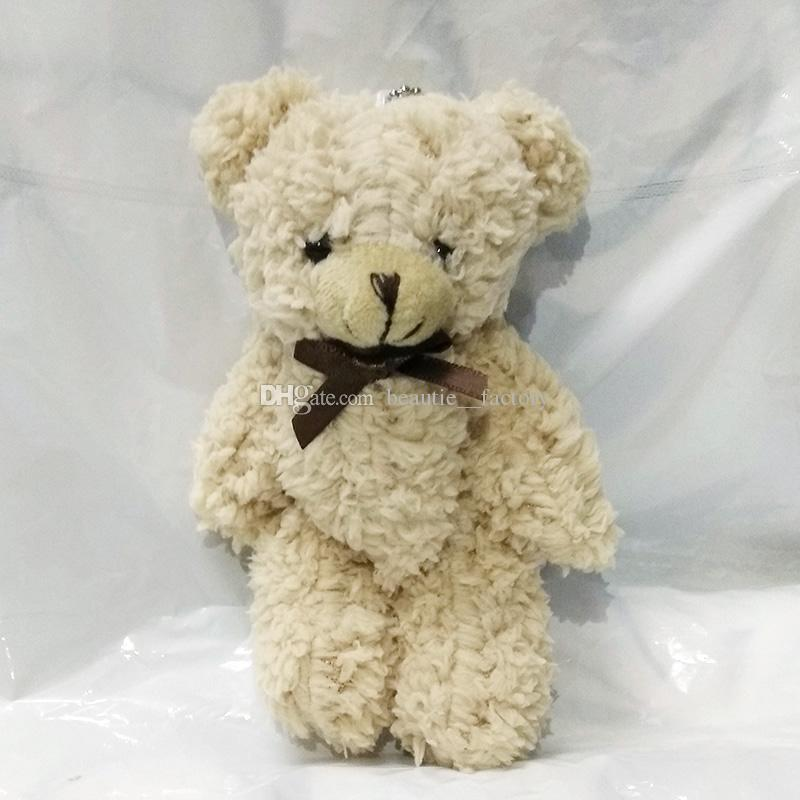 """5 """"미니 테디 봉제 곰 박제 동물 인형 장난감 작은 파티 호의 인형 크리스마스 선물 생일 선물"""