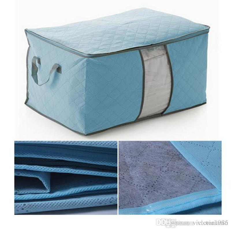 Non-woven Storage Bags Quilt Clothes Closet Storage Divider Home Size Finishing Luggage Storage Organizer free shipping