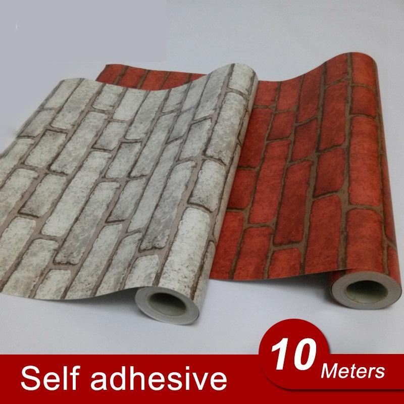 Vinyl Self Adhesive Wallpaper Brick PVC Wall Stickers Waterproof Brick Wall Paper For Living Room Kitchen Bathroom Bedroom Decor