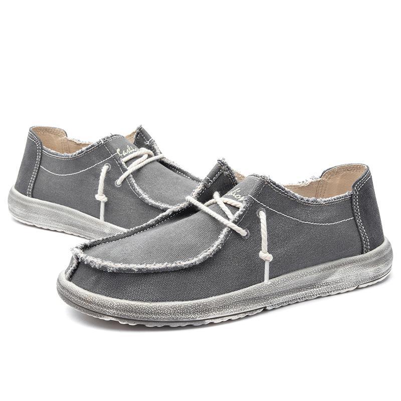 Sıcak Sale-2019 Yeni erkek Ayakkabı Moda erkek Kanvas Ayakkabılar Patlamalar Yıkanmış Bez Rahat erkek Ayakkabıları Yaz Sneakers