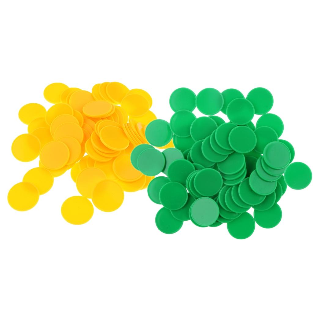 Portable 2 Set/200Pcs Plastic Markers Tokens For Party Bar Game 25 X 2Mm Running Pants