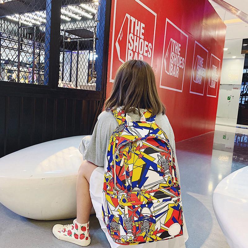 Designer- Mochila Mochila de lujo de contraste estilo de la pintada multicolor Nuevos Productos de invierno bolso de escuela de impresión de alta capacidad FashionY