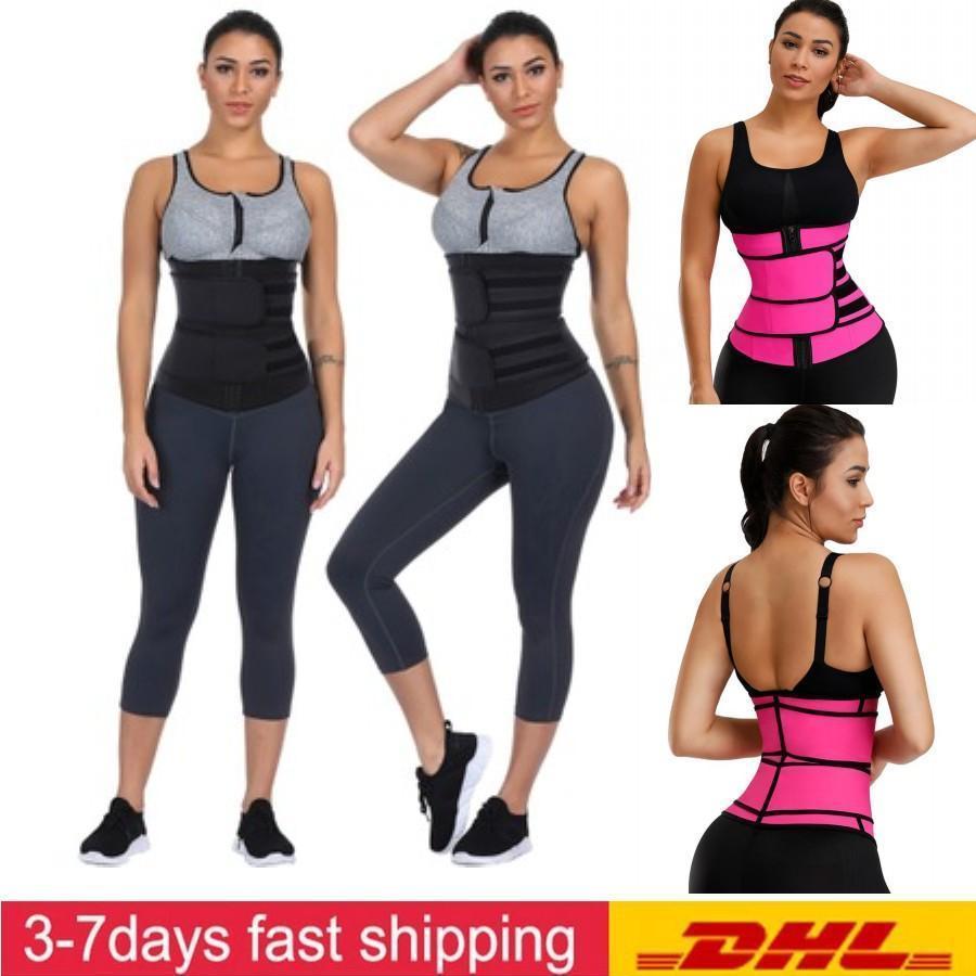 DHL Shipping In Stock Body Shaper Wrap Belt Waist Trainer Cincher Corset Fitness Sweat Belt Girdle Shapewear FY8084