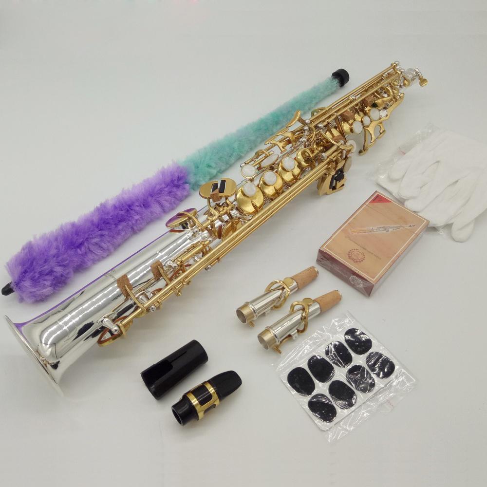 أعلى ياناجيساوا S-9930 B نغمة سوبرانو الساكسفون النيكل مطلي الذهب مفتاح المهنية ساكس الناطقة بلسان الحال مع واكسسوارات