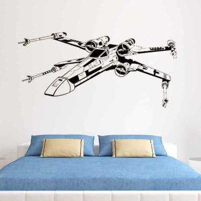 Wall stickers cool aircraft MOQ 16 pieces wall stickers for kids living room for bed room