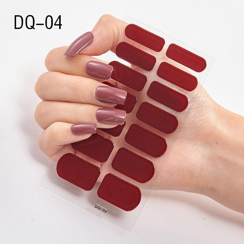 1 feuille Série Paillettes Paillettes Mode Nail Art Stickers Collection manucure bricolage ongles Strips polonaise Wraps pour Party Decor