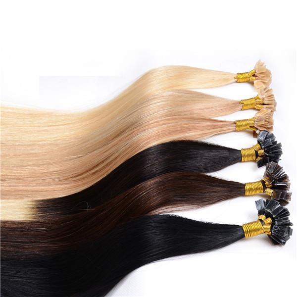 Верхнее качество Кератин U Совет в наращивание волос 1g прядь 300ST 300G Длина 16 «» - 22 «» итальянский Клей Straight человеческих волос, свободная DHL