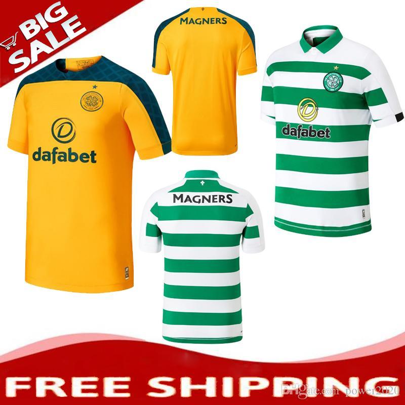 Acquista TOP 2019 2020 Maglia Da Calcio Glasgow Celtic 19 20 CAMICIA DA Calcio BITTON MARRONE ROGIC CHRISTIE HOME AWAY A 14,79 € Dal Power2020   ...